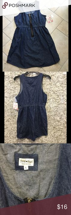 Derek ❤heart denim dress Casual dress Derek Heart Dresses Mini