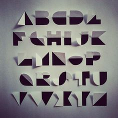 how to fold the alphabet out of paper - Google Search