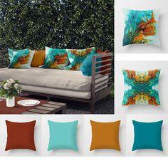 Decor, Orange Brick, Home Decor Items, Solid Pillow, Pillows, Outdoor Cushions, Orange Cushions, Patio Pillows, Outdoor Pillows