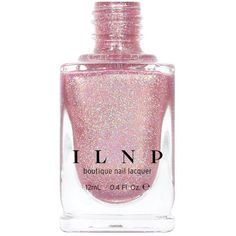 Ballet Slipper Soft Pink Holographic Nail Polish ($10) ❤ liked on Polyvore featuring beauty products, nail care, nail polish, beauty supplies, craft supplies & tools, nail art supplies, silver and sticker nail polish