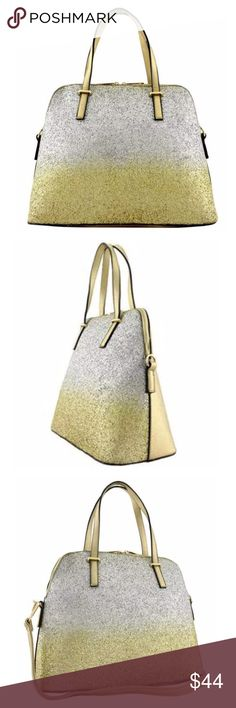 """gold & Silver Metallic Glittery Satchel Handbag ‼️PRICE FIRM‼️   I LOVE THIS BAG!!!!  Gold & silver glittery faux leather. You are sure to get tons of compliments on this bag.  Bag measures 14"""" high by 11"""" long.  Please check my closet for many more items including designer clothing, jewelry, scarves, shoes & much more! Bags Satchels"""