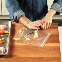 Test Kitchen Secret: How to Get Rid of Garlic Hands   CookingLight.com
