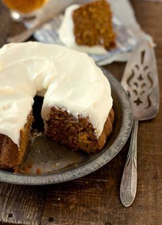 gingery carrot tea cake with lemon cream cheese frosting.