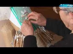 Maltese Lacemaking. Watch bobin lace being made by hand.