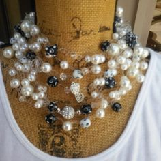Are you ready to make a SERIOUS Statement with Jewelry?  Pearl Choker Statement Necklace, Bib Necklace, Collar Necklace - Designer Inspired!