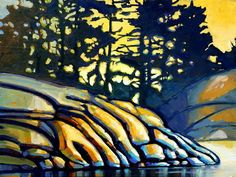 Canadian Painting  Title: Ritual stone  www.werbeland.ca Canadian Painters, Canadian Art, Quebec, Art Ideas, Landscapes, Paintings, Contemporary, Stone, Artwork