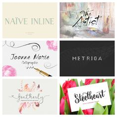 Nice collection fonts - Free Vector Art