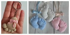 The Amigurumi Baby Footprints Patterns are great to make cute Amigurumi Baby Footprints as a baby shower present to be cherished for years.