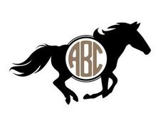Want to really stand out at the next horse show? This running horse monogram decal will definitely get you noticed. It comes in 12 different sizes, an whatever color you like, so you might want to ord