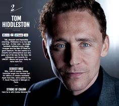 """Avengers"" Men in Empire Magazine's 100 Sexiest Movie Stars: #2 Tom Hiddleston"