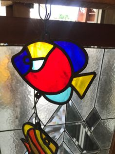hanger stained glass fish Red Fish, Stained Glass Art, Outdoor Lighting, Indoor Outdoor, Hanger, Color, Design, Clothes Hanger, Exterior Lighting