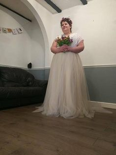 Plus size tulle carmell skirt two tone dual color skirt custom order available two piece wedding dress, bridal separates in 2019 Two Piece Wedding Dress, Wedding Skirt, Wedding Veil, Wedding Couples, Wedding Gowns, Black Wedding Invitations, Bridal Separates, Plus Size Wedding, Chiffon Skirt
