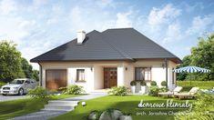 Projekt domu Atol 120,05 m² - Domowe Klimaty Bedroom House Plans, Dream House Plans, Luxury Modern Homes, Hip Roof, House Entrance, House Roof, Home Fashion, Ground Floor, Gazebo