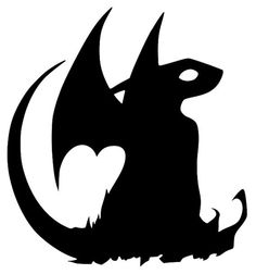 How to Train Your Dragon Toothless Sitting Vinyl Decal Image Die Cut Sticker