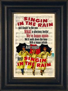 Gene Kelly Singing in the rain movie print on by ForgottenPages, $8.00