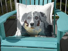 SHIPS TOMORROW Australian shepherd dog pillow 20 by crabbychris, $45.00