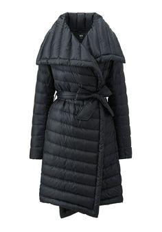 The Sleekest Puffer Around / www.uniqlo.com-- Ultra Light Down Wrap Coat