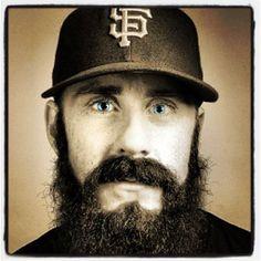 Fear the beard, Brian Wilson, Giants My Giants, Giants Baseball, Baseball Players, Sports Baseball, Softball, Hockey, Basketball, Baseball Cards, Moustaches