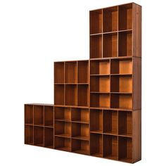 Mogens Koch Bookcases in Oregon Pine by Rud, Rasmussen in Denmark