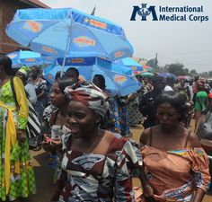February 8: A crowd gathers for an International Women's Day Parade in DRC.    Photo: Richard Hoffman, International Medical Corps, DRC 2012