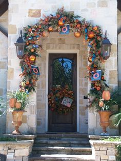 Fall Doorway by Show Me Decorating http://www.showmedecorating.com