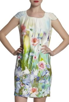 Floral Border Dress
