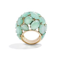Pomellato Capri Ring in Rose Gold w/ Chrysoprase