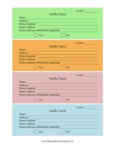 free printable raffle tickets | Free Printable Raffle Ticket ...