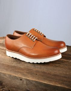 8d6b0054d137 Grenson Finbar Shoe with Vibram Sole - Tan Calf Calves