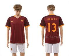 http://www.xjersey.com/201516-rome-13-maicon-home-jersey.html 2015-16 ROME 13 MAICON HOME JERSEY Only $35.00 , Free Shipping!
