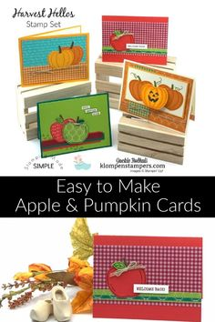 Make both apples and pumpkins with this awesome paper punch! The perfect way to make fun fall cards for all occasions. www.klompenstampers.com #carddesigns #cardmaking #handmadecardideas #greetingcardshandmade #jackiebolhuis #klompenstampers #stampinup #stampinupcards