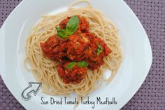 Sun Dried Tomato Turkey Meatballs in a Roasted Red Pepper Sauce