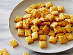 Recipe of the Day: Healthy Cheesy Crackers Not all crackers come from boxes. We cracked the boxed-cheese-cracker code with a simple recipe that kids can help make. Make the dough, sharpened with real cheddar and Parmesan cheeses, in a food processor and bake squares until crunchy in the oven.