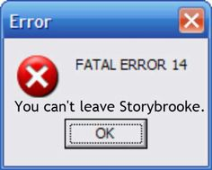 You can't leave storybrooke. The question is, would I really want to leave anyways?