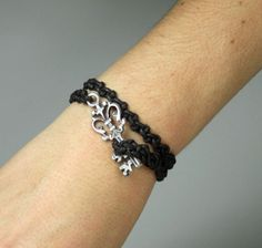 Women's Bracelet. Woven with waxed rope with by ZEcollection, $12.00
