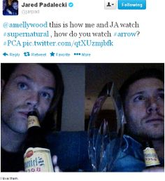 Jared's tweet to Stephen Amell ;)