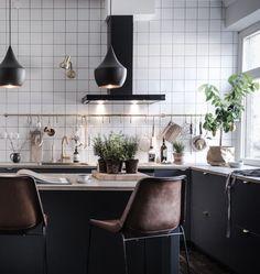 Image result for white or black kitchen
