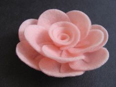 Felt Rose Pattern PENNY ROSE No Sew Felt Flower Tutorial Brooch Hairclip Headband PDF Tutorial ePattern eBook How To