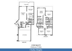 Naval Complex San Diego – Chollas Heights Neighborhood: 4 bedroom 2.5 bath home floor plan (1350 SQ FT).