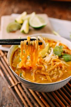 Today, we have another awesome noodle soup recipe for you guys––Curry Mee. And I'm pretty excited about it. As you can probably tell, The Woks of Life has been in a noodly mood lately. We recently published my mom's wild mushroom noodle recipe, as well as her AMAZING beef noodle soup (my sister and I …