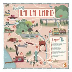 Map from artist Brian Miller with All the L.A. Locations Where 'La La Land' Was Filmed From Fandango