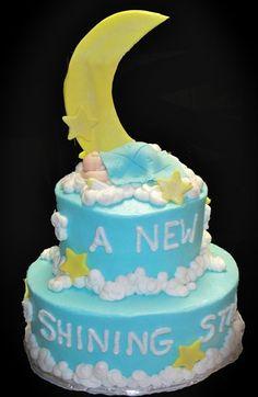 Home Shower Cakes Shining Star Baby Shower Cake