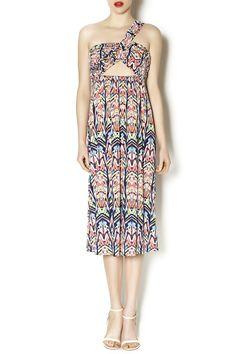 Moa moa strapless maxi dress