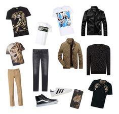 """Leopard Style"" by alessandro-campa on Polyvore featuring Versace, Neil Barrett, adidas, Yves Saint Laurent, Maison Margiela, Vans, adidas Originals, Dolce&Gabbana, Label Lab e men's fashion"