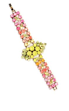 Hand-Painted Lightray Bracelet In Pink by Lulu Frost for Preorder on Moda Operandi