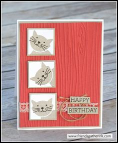 Cute Cat Card made with the Foxy Friends stamp set by Stampin' Up!