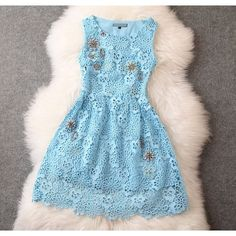 I like this!  New Elegant Lace Crochet Handmade Beading Party Dress Dress only $89 from ByGoods.com!