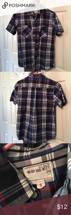 Casual men's button down shirt Red white and blue casual men's button ❤️💙NEVER worn❤️💙 Shirts Casual Button Down Shirts