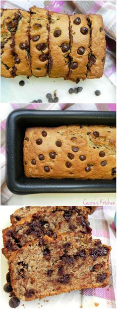 A healthy Chocolate Chip Muffin batter baked into a delicious loaf! Completely oil free and made with simple and healthy ingredients! A real treats