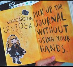 "Wreck this Journal by Keri Smith | ""Pick up the journal without using your hands."" 